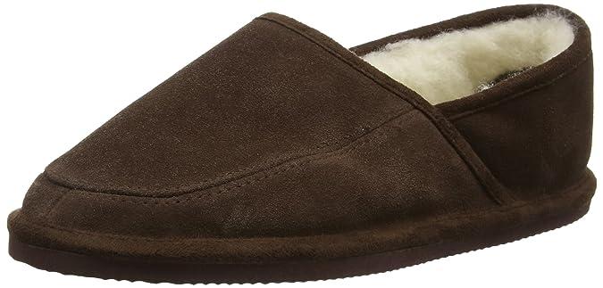 Chaussons daim unisexe en laine avec doublure et semelle rigide ou Par  Bushga (Camel Marron: Amazon.fr: Chaussures et Sacs