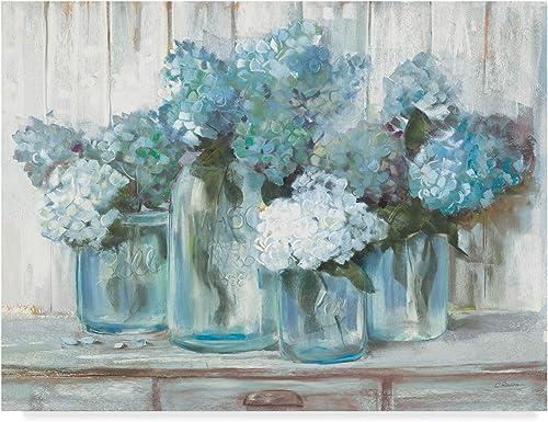Trademark Fine Art Hydrangeas