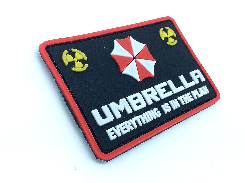 Paraguas todo está en el Plan Resident Evil PVC Airsoft Velcro Patch: Amazon.es: Deportes y aire libre