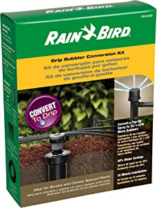 Rain Bird CNV182MBS Drip Irrigation Sprinkler Conversion Kit, 1800 Pop-Up to 6 Drip Micro Bubblers with 1/4