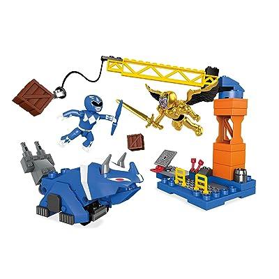 Mega Construx Mighty Morphin Power Rangers Blue Ranger Battle: Toys & Games