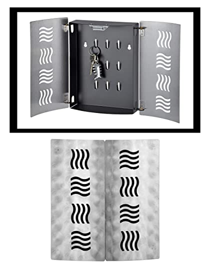 Design Schl/üsselkasten Edelstahl 2 T/üren Magnetverschluss 061