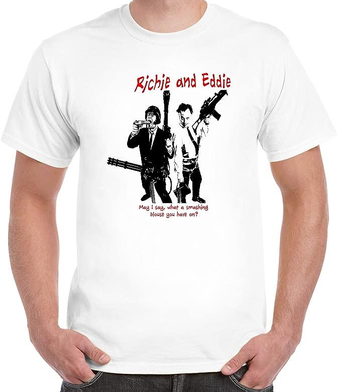 Bottom Rik Mayall Ade Edmondson Mens T Shirt Righty Ho Young Sunny Jim