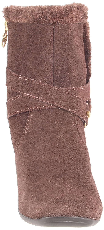 Anne Klein Sport Women's Millie Ankle Boot,Black/Black Suede,10 M US