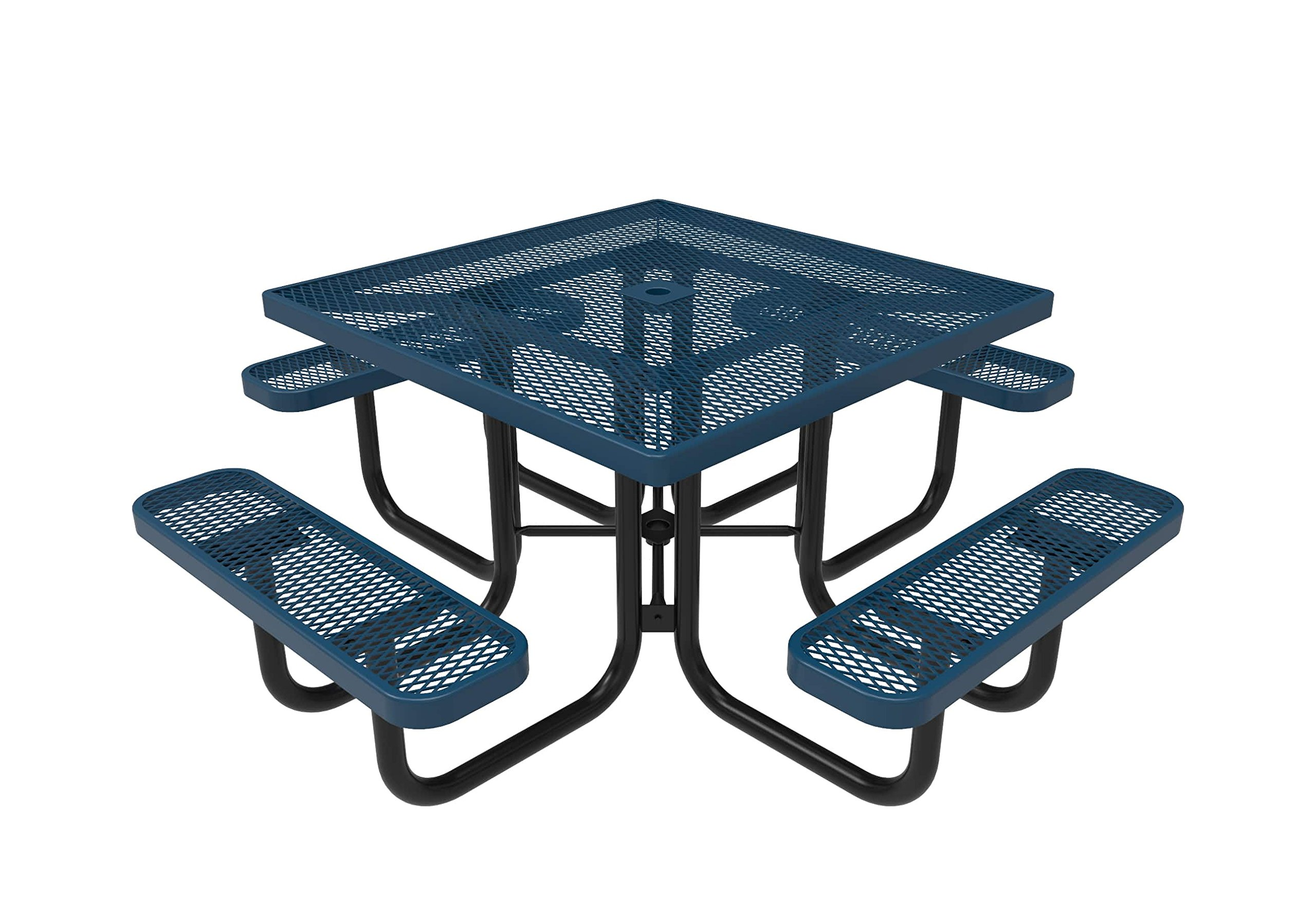 Coated Outdoor Furniture TSQ-LBL Top Square Portable Picnic Table, 46-Inch, Light Blue by CoatedOutdoorFurniture