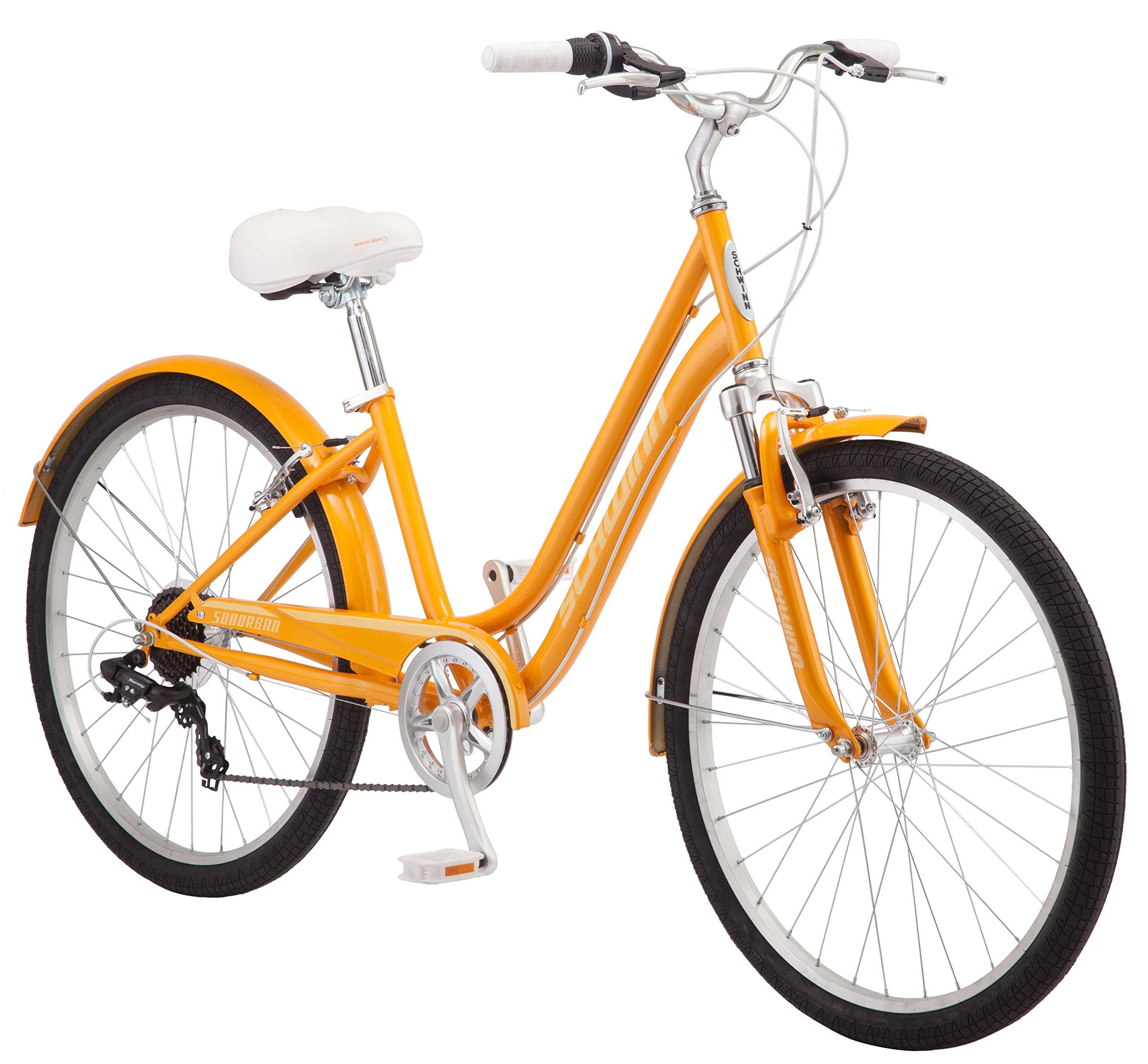 Schwinn S5483C 26'' Women's Comfort Bike, 16''/Small, Orange