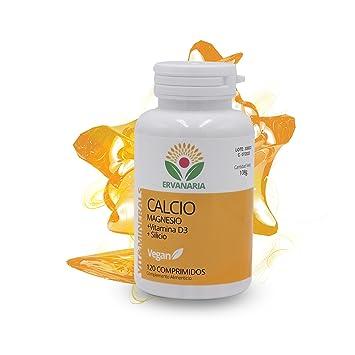 Calcio con Magnesio, Vitamina D3 y Silicio. 120 Cápsulas. Para la salud de