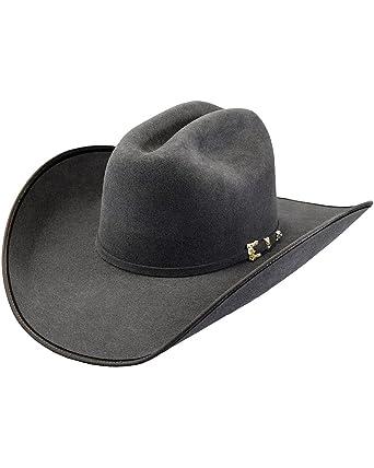 Justin Men s Bent Rail Granite 7X Hooked 2 Felt Cowboy Hat at Amazon Men s  Clothing store  1480fe1441de