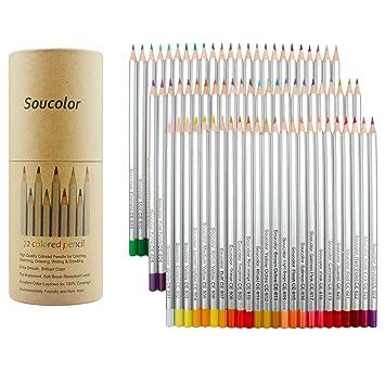 Soucolor 72 Farben Buntstifte Farbstifte Set, Zeichnung Bleistifte ...