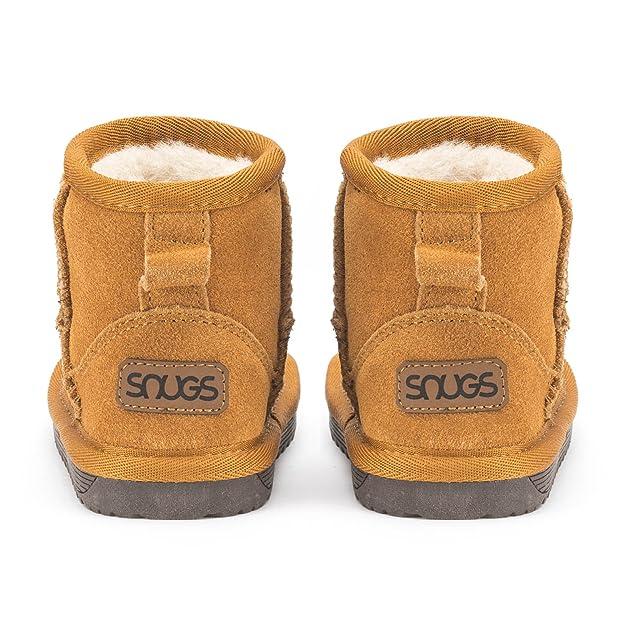 3fabf05a57535c Snugs Boots Kinderstiefel aus Lammfell und Wild-Leder Stiefel für Kinder  Jungen und Mädchen Lammfellschuhe  Amazon.de  Schuhe   Handtaschen