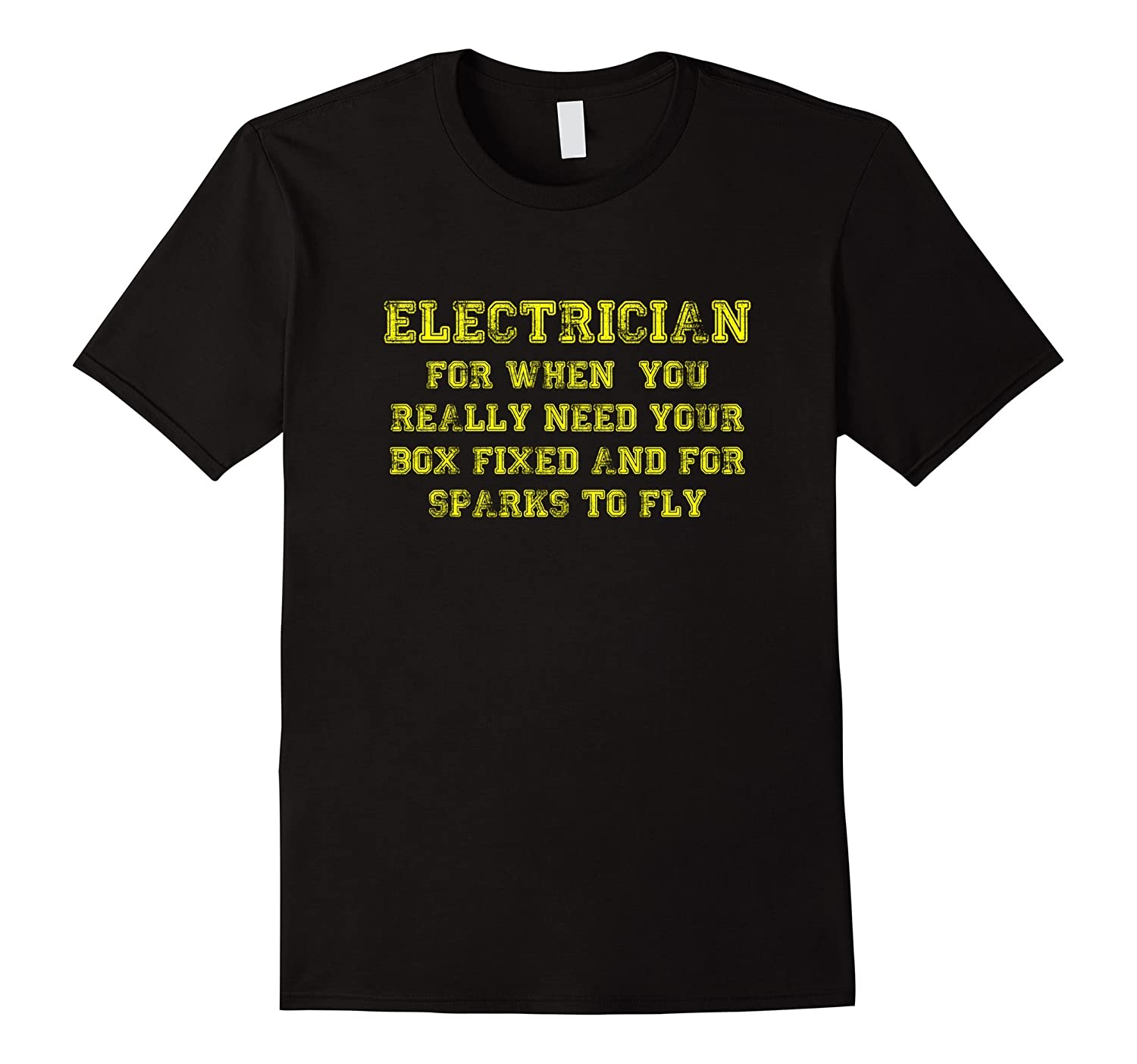 Funny Sexy Electrician Tee Shirt-TD