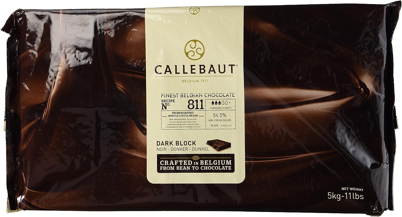 Amazon.com : Callebaut Chocolate Block Semisweet 54.5% cocoa 5 ...