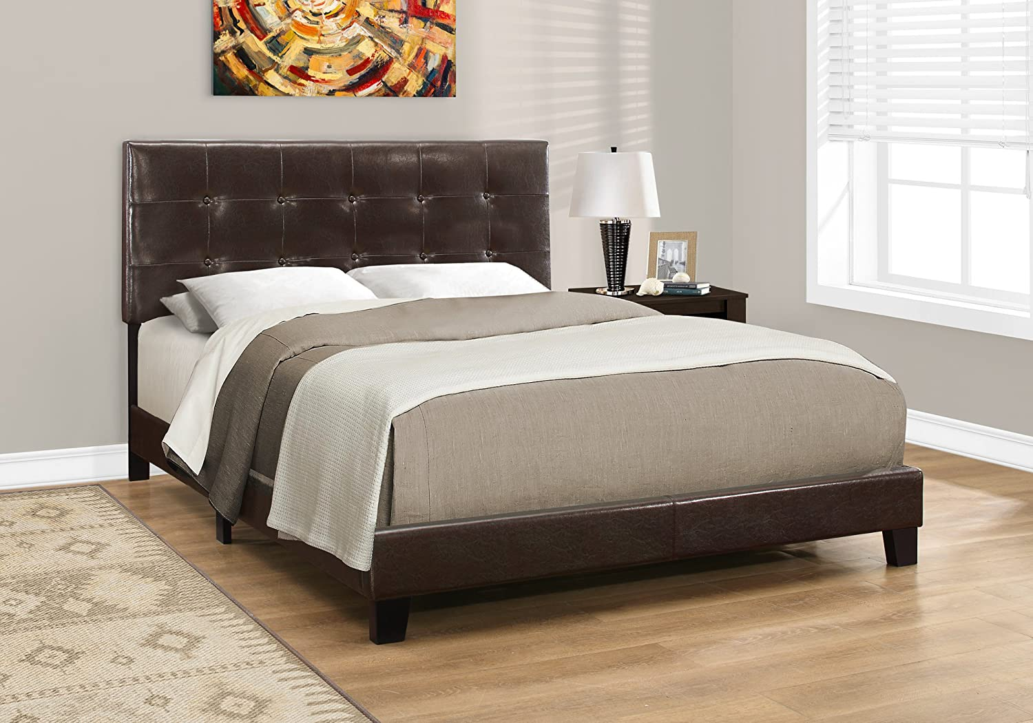 Monarch Specialties Bed Frames, Queen, Brown