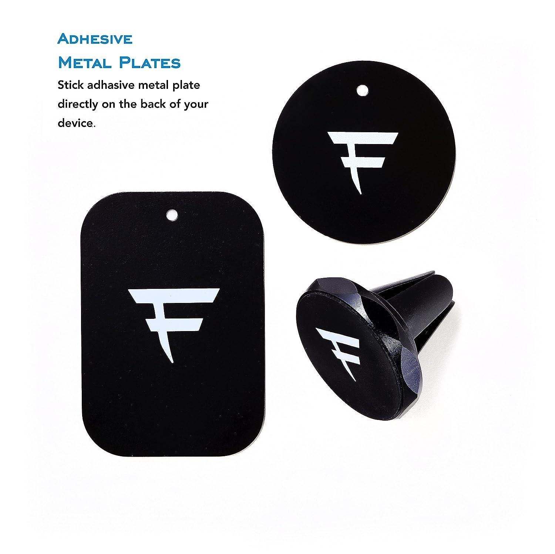 Black Magnetic Car Mount Futureva Universal Air Vent Magnetic Car Mount Phone Holder for Smartphone iPhone X 8 7 Plus 6S 6 5s 5 SE Galaxy S8 S7 S6 Edge Note 8 5 4 2 and Mini Tablets