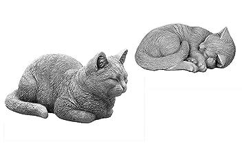 OFERTA ESPECIAL: Massive piedra figuras gatos - Juego de decorar Jardín, resistente a las heladas. De Piedra: Amazon.es: Jardín