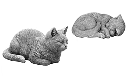 OFERTA ESPECIAL: Massive piedra figuras gatos – Juego de decorar Jardín, resistente a las