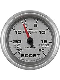 Auto Meter 7701 Ultra-Lite Pro II 2-5/8-Inch 30-Inch Hg/20 PSI Mechanical Vacuum/Boost Gauge