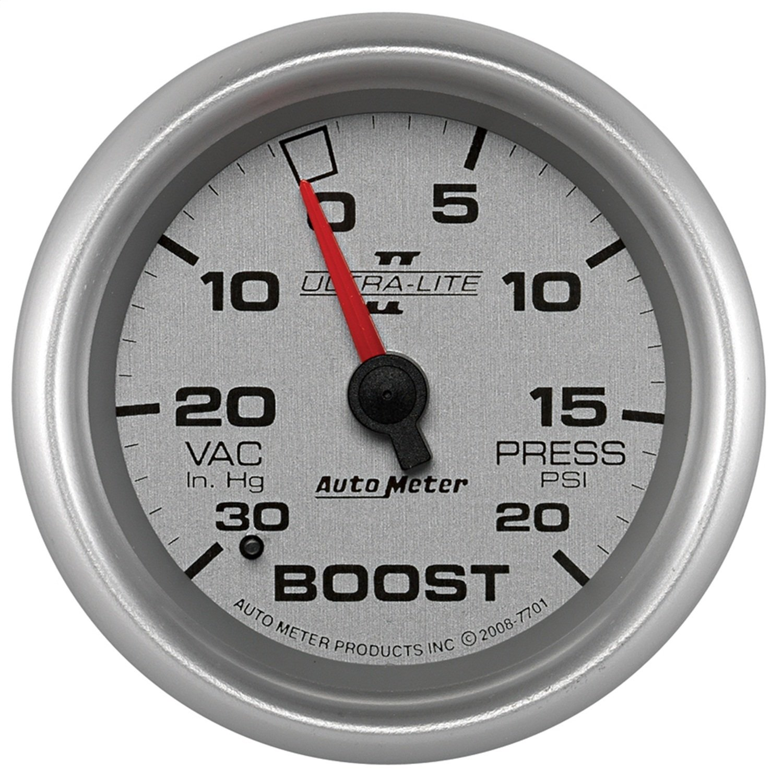 Auto Meter 7701 Ultra-Lite Pro II 2-5/8'' 30 in. Hg/20 PSI Mechanical Vacuum/Boost Gauge by AUTO METER