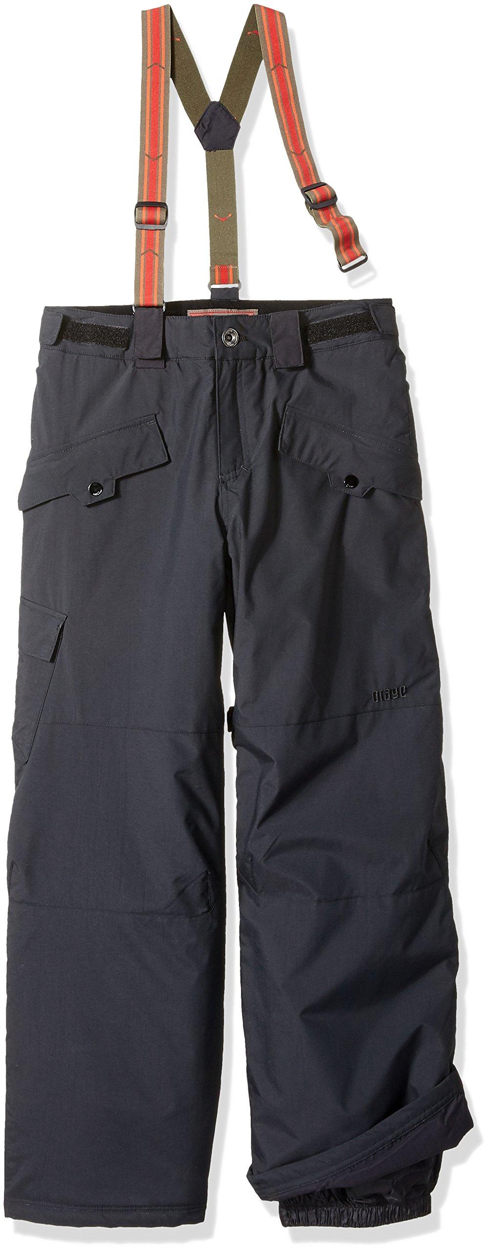 orage Boys Jimmy Pants, Black, Size 14/X-Large