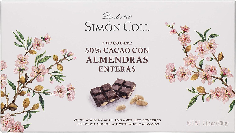 Chocolates Simón Coll Chocolate 50% Cacao con Almendras - 15 ...
