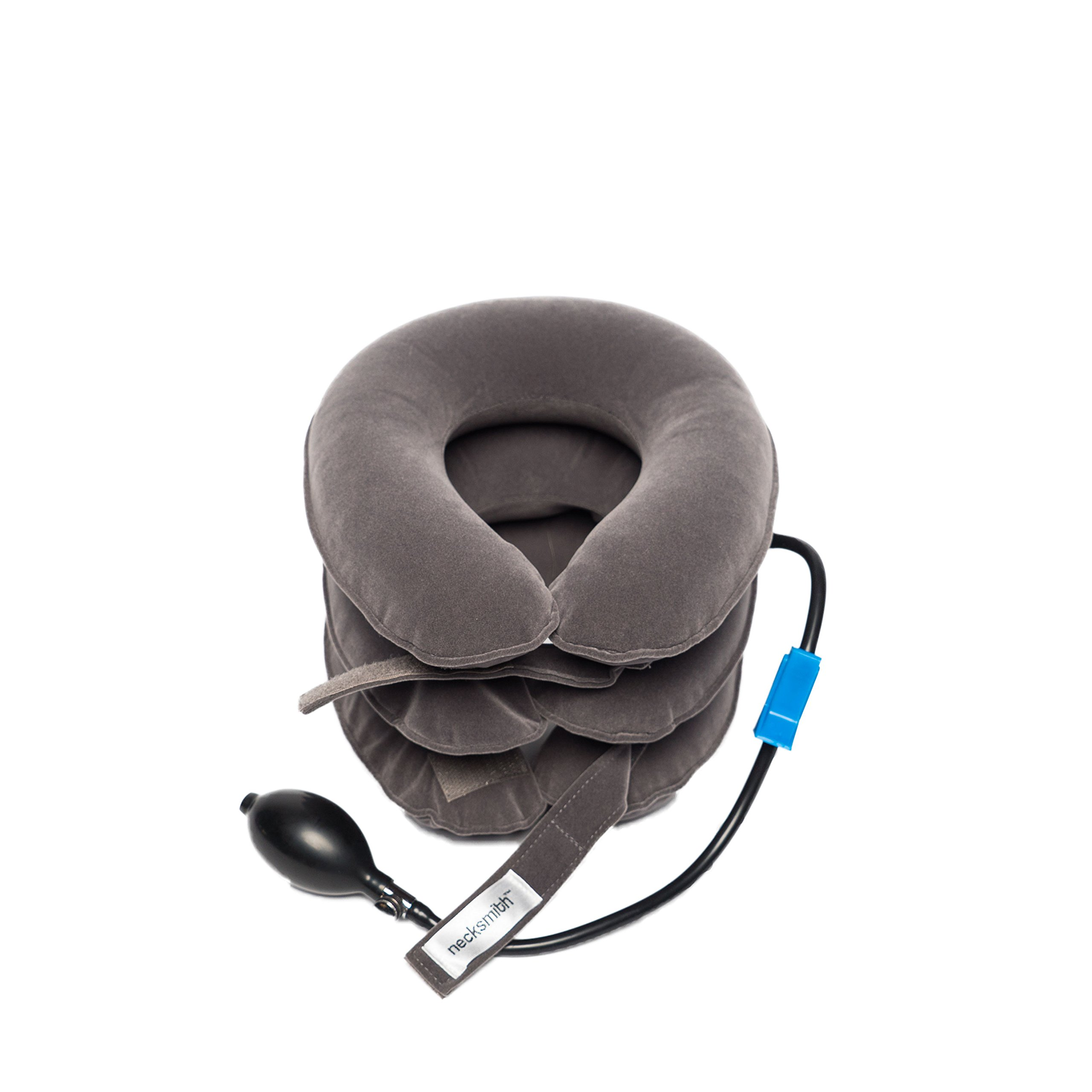 Necksmith™ Cervical Neck Traction Travel Pillow Device & Adjustable Neck Device Collar for Pain Relief and Support with FREE Neck Extensions by Necksmith (Image #4)