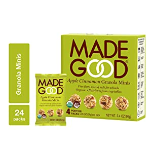 Apple Cinnamon Granola Bar Minis | MadeGood 6 Boxes (0.85 oz., 24 ct)