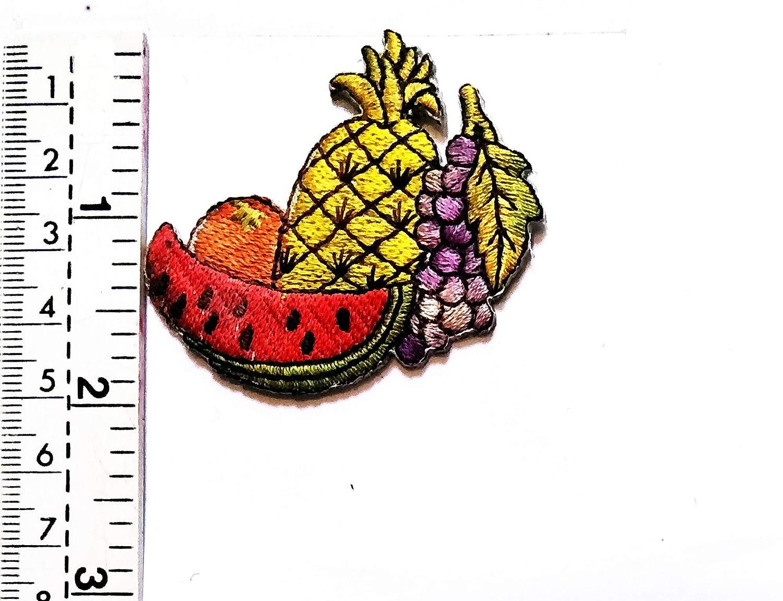 Parche de piña de melón naranja con diseño de mini frutas, para ...