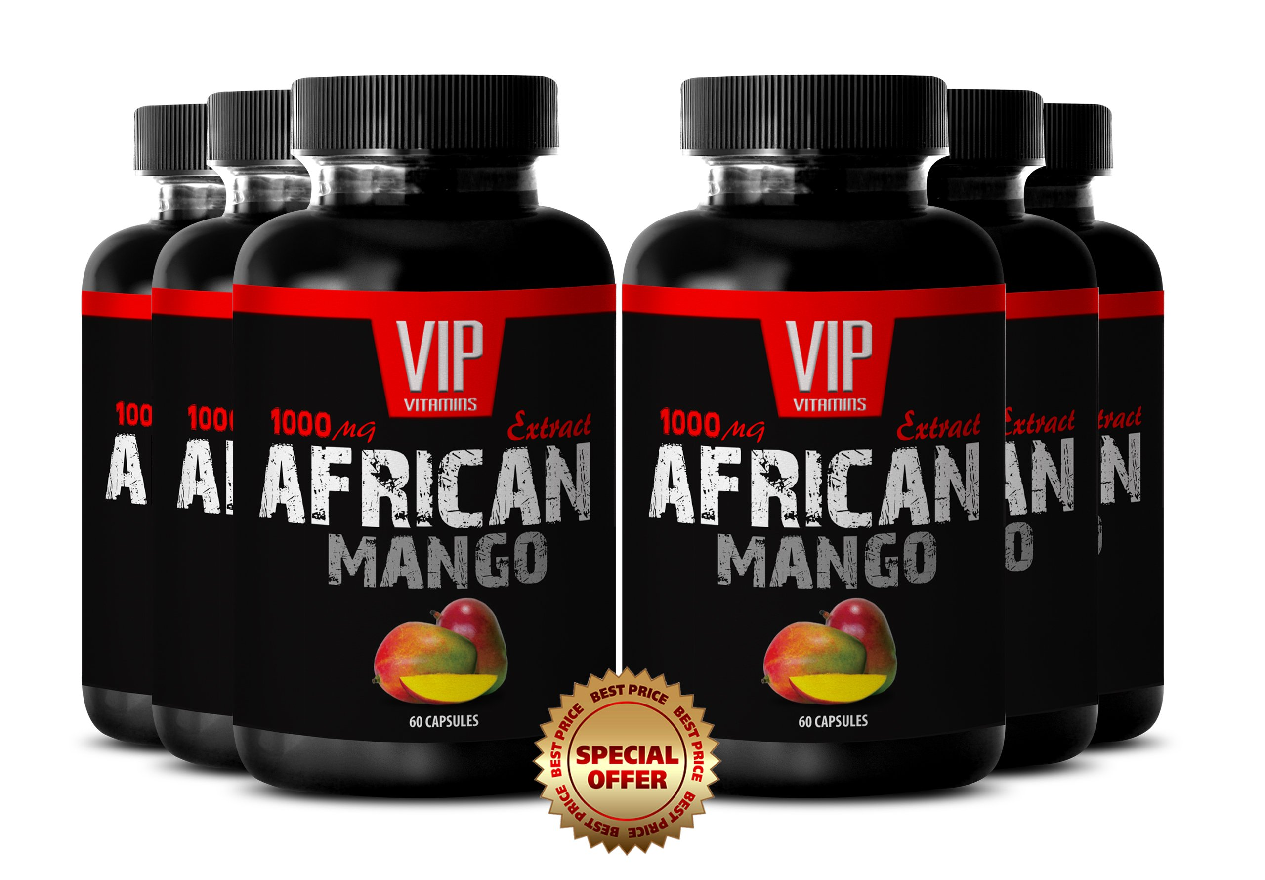 Metabolism energy booster - AFRICAN MANGO DIET PILLS - Natural supplement for weight loss - 6 Bottles 360 capsules