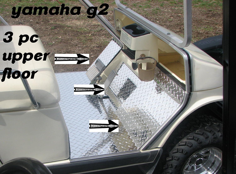 Yamaha rhino rubber floor mats - Amazon Com Yamaha G2 Or G9 Golf Cart Diamond Plate 3 Pc Upper Floor Cowl Plates Sports Outdoors