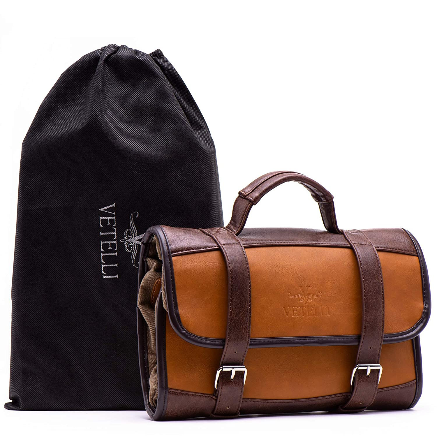 86576e22a2 Vetelli Hanging Toiletry Bag for Men - Dopp Kit   Travel Accessories Bag    Great Gift  Amazon.com.au  Toys   Games
