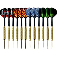 XUBX 12 stuks Dartpijlen met metalen punt, Steeltip dartpijlen, stalen darts pijlset, 19 gram professionele stalen darts…