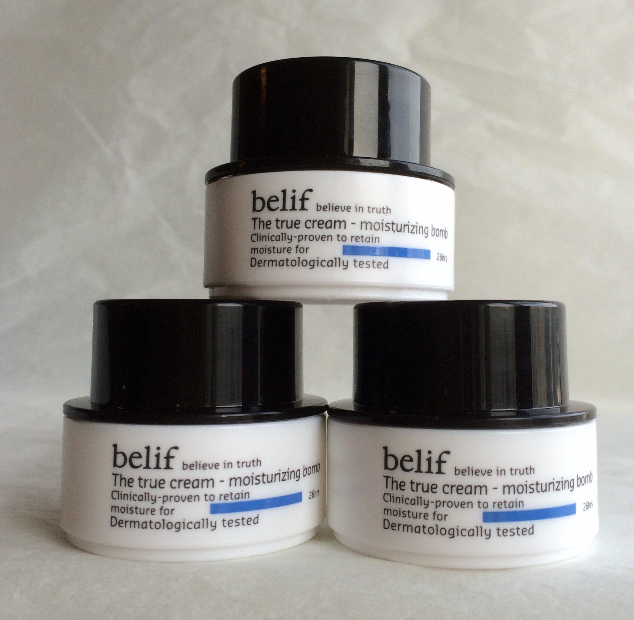 Belif The True Cream Moisturizing Bomb 30ml (10ml X 3, Trial Size) by belif