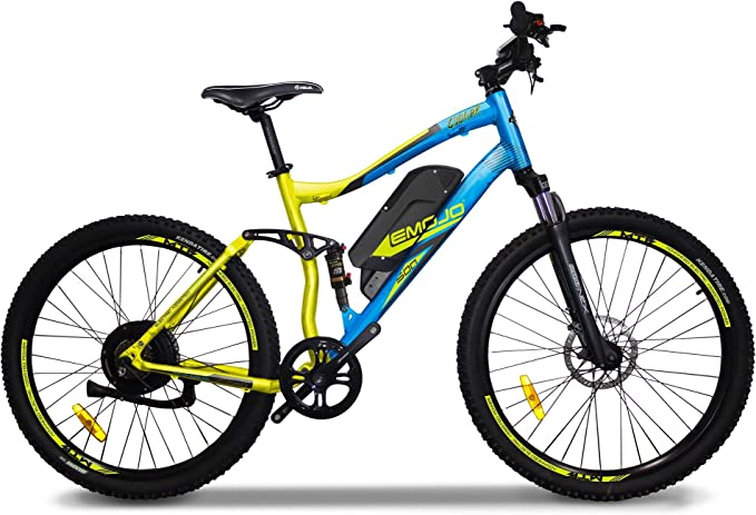 Emojo Bikes Cougar Electric Off-Road Bike/Mountain E-Bike, Lightweight Aluminum Frame with 500W Power Motor, Dual Tektro Disc Brakes and 27-Speed Shimano Gearing