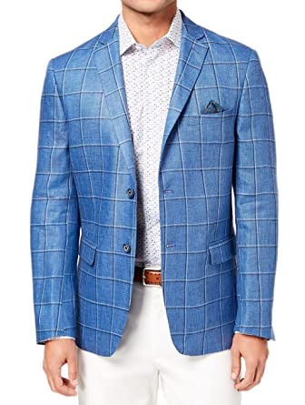 92e980ec639 Tallia Orange Mens 100% Linen Blazer (Blue