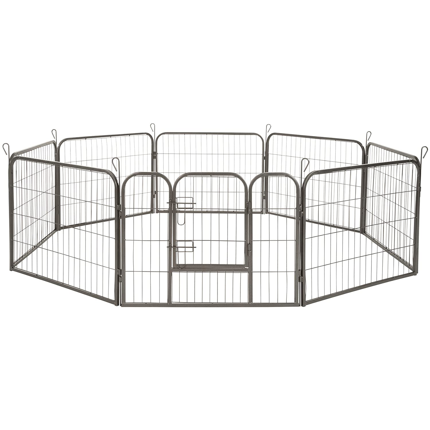 Hauteur 60 Cm   No. 402502 TecTake Large animal puppy enclosure playpen fence free running cage dog rabbit different model (hauteur 60 cm   no. 402502)