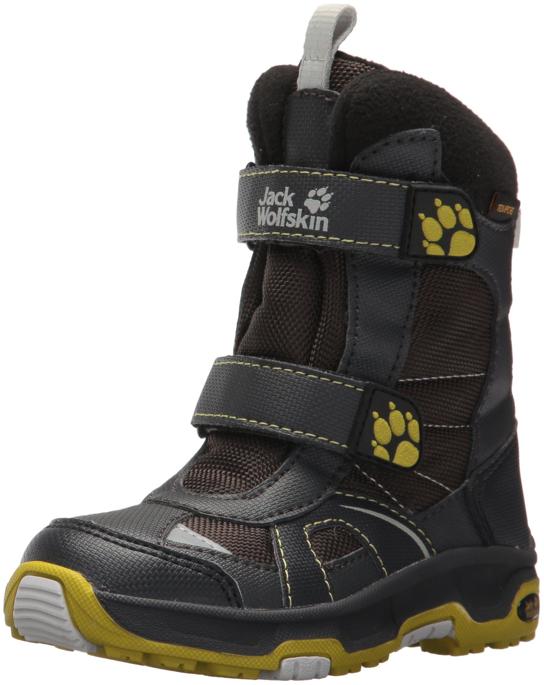 Jack Wolfskin Boys Polar Bear Texapore Snow Boot, Pinewood, 12 M US Little Kid