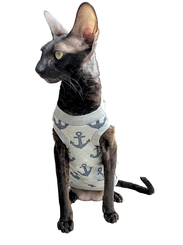 Kotomoda Katzen Kleidung T-Shirt Glänzende Anker