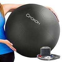 Exercise Ball,Anti Burst and Slip Resistant Yoga Ball,Swiss Ball,Body Ball, Fitness Ball,Ab Ball,Gym Ball,Workout Ball,Balance Ball, with Foot Pump by CPOKOH