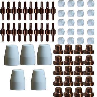 Kit de corte de plasma repuestos 65 Piezas inversor brevemente PT-31 electrodos - Boquillas