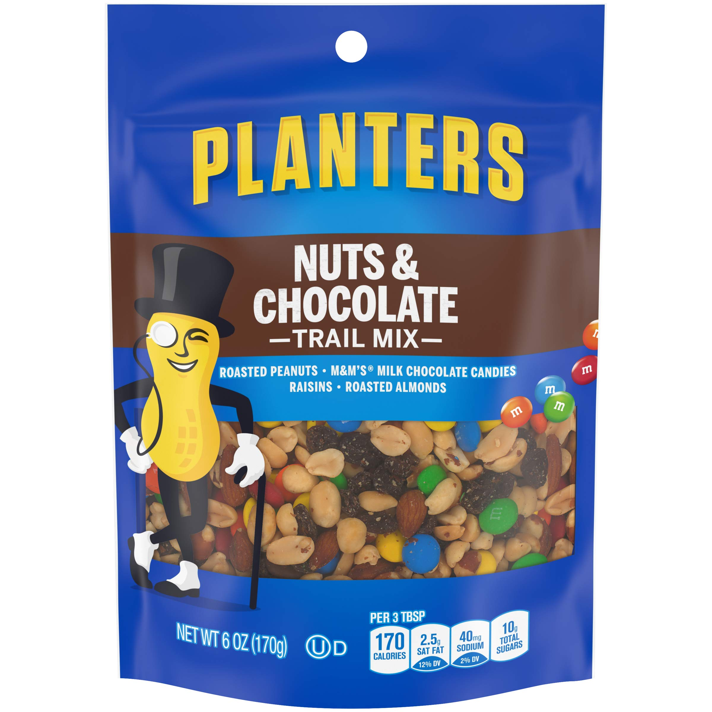 Planters Trail Mix, Nuts and Chocolate, 6 oz
