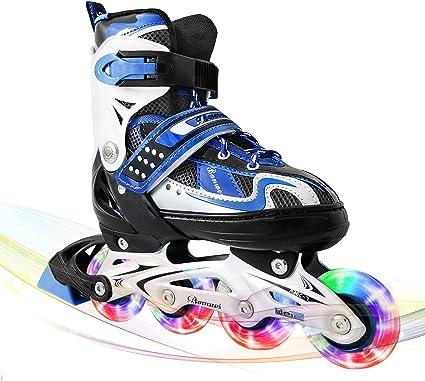 LIKU Boys Adjustable Inline Skates,Performance and Cool Inline Skate