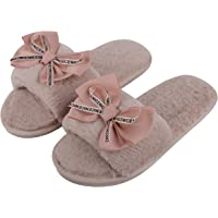 Irsoe Latest and Comfortable Indoor & Outdoor Fur Slippers for Women & Girls Slippers flip Flop - Peach