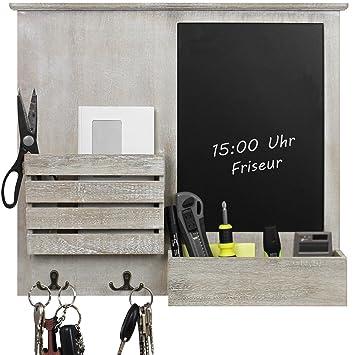 Wandorganizer 46 5x52 5x6cm Mit Tafel Ablagen Und Metallhaken