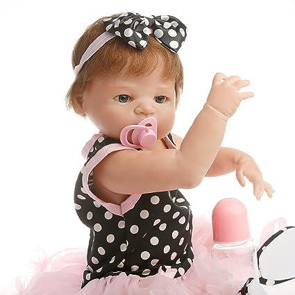 Amazoncom Sanydoll Reborn Baby Doll Soft Silicone 22inch 55cm