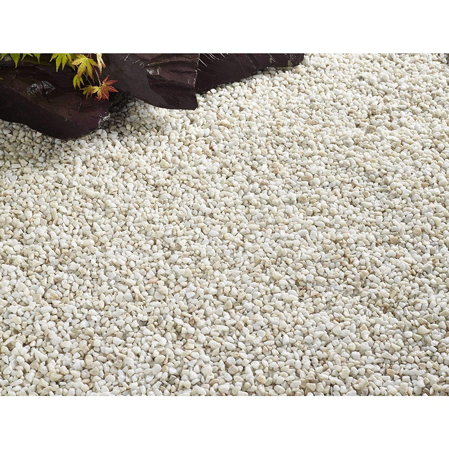 6MM Alpine White Gravel for Topping Up Garden Pots Fish Tanks and Aquarium Garden Pathways Fish Friendly Stone Chippings 5KG