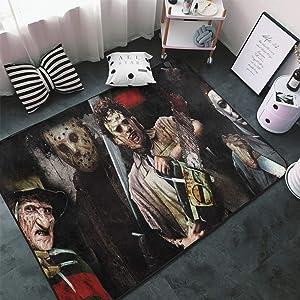 Tsugar Texas Chainsaw Massacre Horror Movies Area Rugs Living Room Carpets for Children Bedroom Home Decor Yoga Rug 80 X 58 Inches