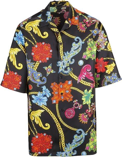 Versace Collection Hombre A81630a229167a72 Seda Camisa: Amazon.es: Ropa y accesorios