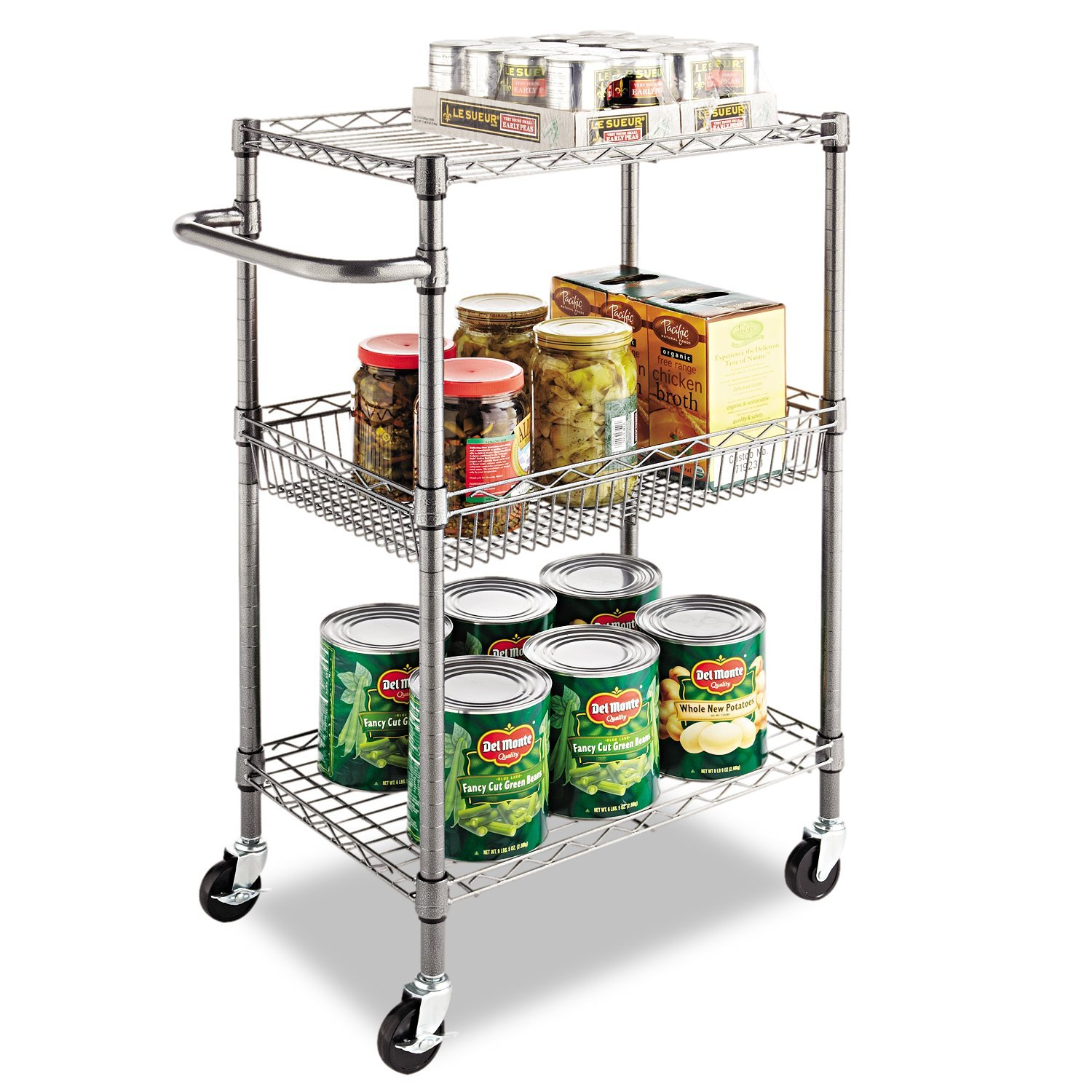 amazon com alera 3 tier wire rolling cart 3 tier wire rolling amazon com alera 3 tier wire rolling cart 3 tier wire rolling cart 28w x 16d x 39h black anthracite kitchen dining