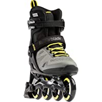 Rollerblade Macroblade 80 ABT Men's Adult Fitness Inline Skate, Silver/Neon Yellow, Performance Inline Skates