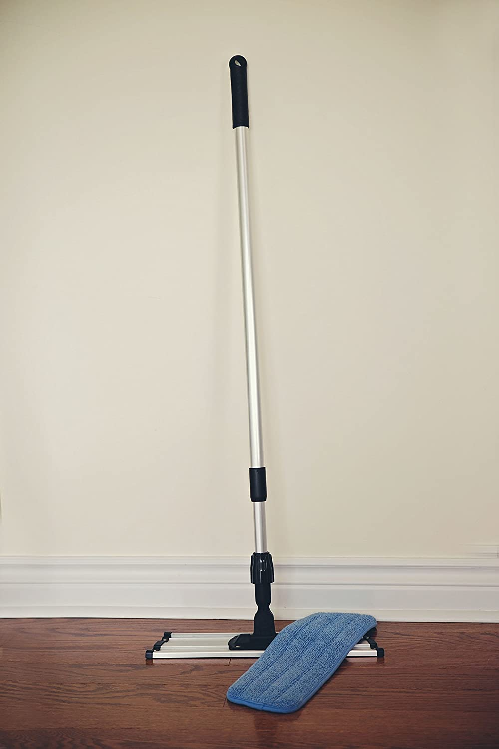 Storage amp organisation home office products housekeeping flooring baby - Amazon Com Commercial Grade Microfiber Floor Dust Mop With A Washable Pad Works Well On All Surfaces Telescoping Handle Adjusts To Your Height